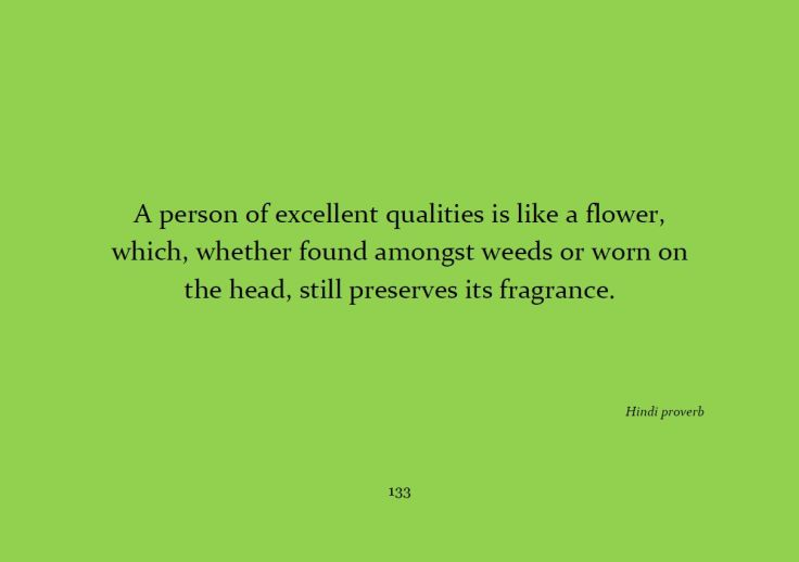 A person of excellent qualities...