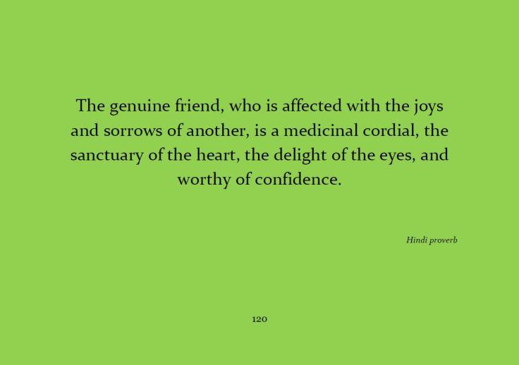 The genuine friend...