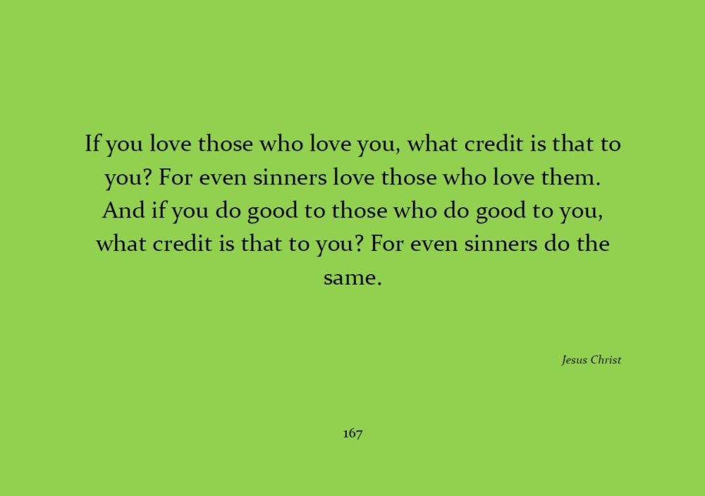 If You Love Those Who Love You